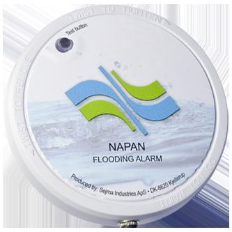 Alarm monteret på højvandslukkere giver dermed visuel og akustisk indikation af lukning for fækalieholdigt vand