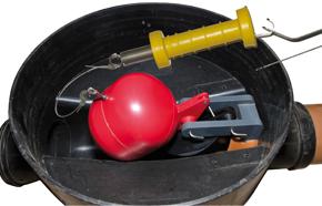 Napan Højvandslukke Type 1. Til indvendig montering i brønd