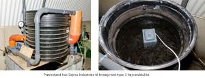 Prøvestand til forsøg med den innovative og ekstremt fleksible Napan type 3 højvandslukker