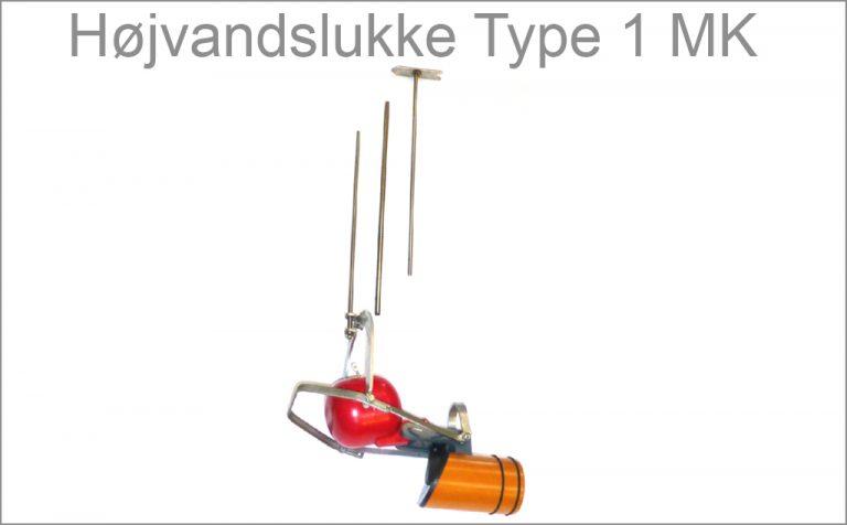 Højvandslukke Type 1 MK med monteringskit