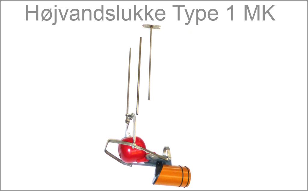 Højvandslukke Type 1 MK har integreret monteringsværktøj, så det nemt kan monteres